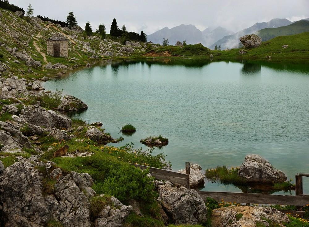Италия, Доломиты, Альпы, Озеро Вальпорола, Перевал Вальпарола (3)