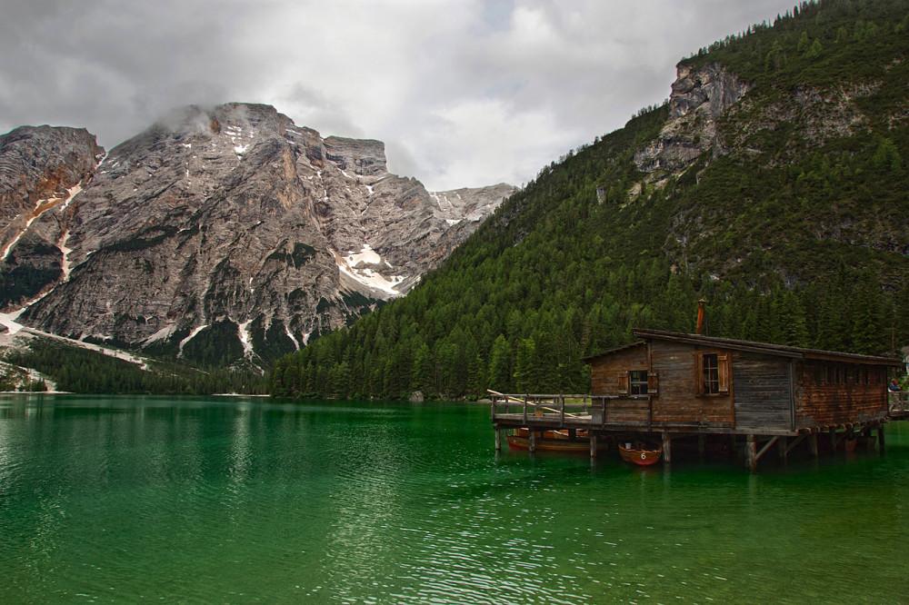 Италия, Доломиты, Альпы, Озеро Лаго ди Браес (3)