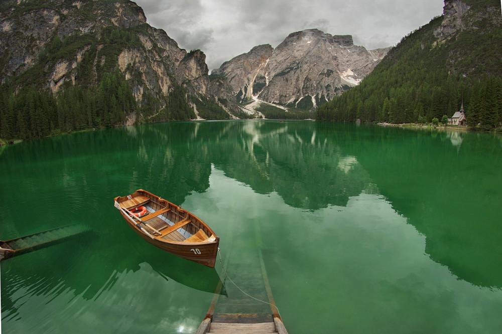 Италия, Доломиты, Альпы, Озеро Лаго ди Браес (4)