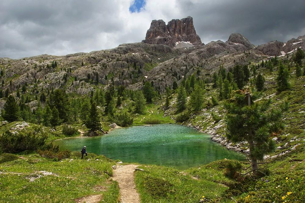 Доломиты, Италия, Озеро Лимидес (1)
