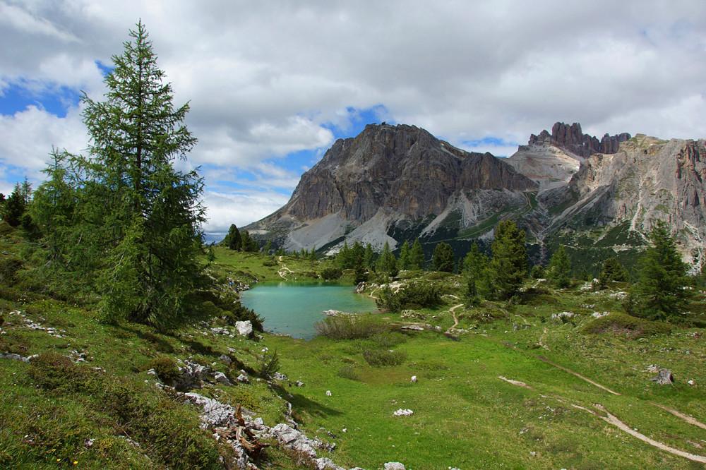 Доломиты, Италия, Озеро Лимидес (8)