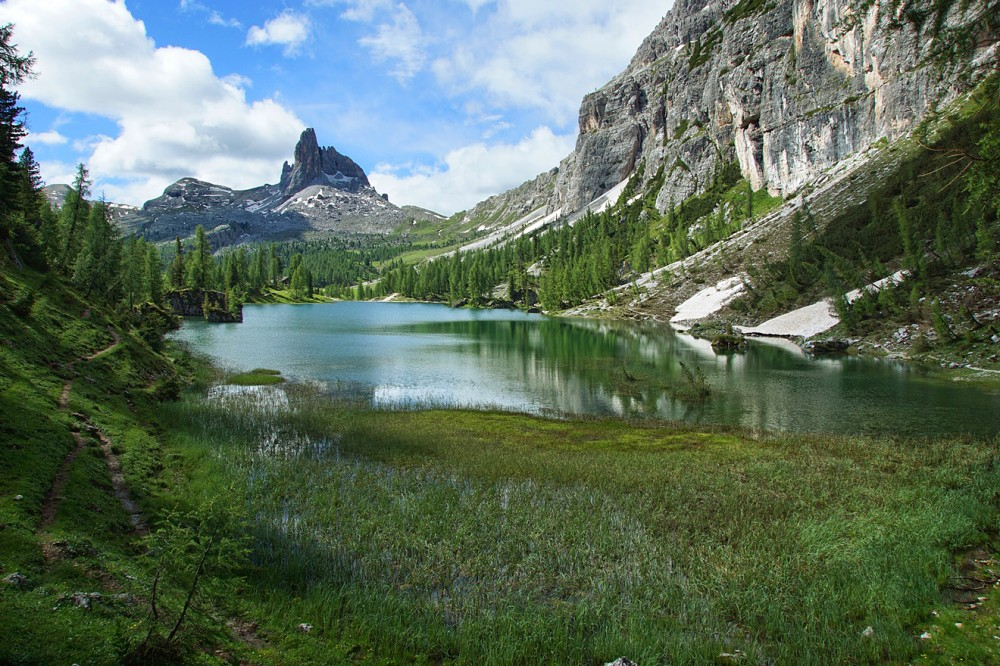 Доломиты, Италия, Озеро Федера (14)