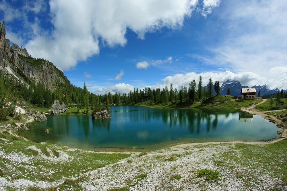 Доломиты, Италия, Озеро Федера (17)