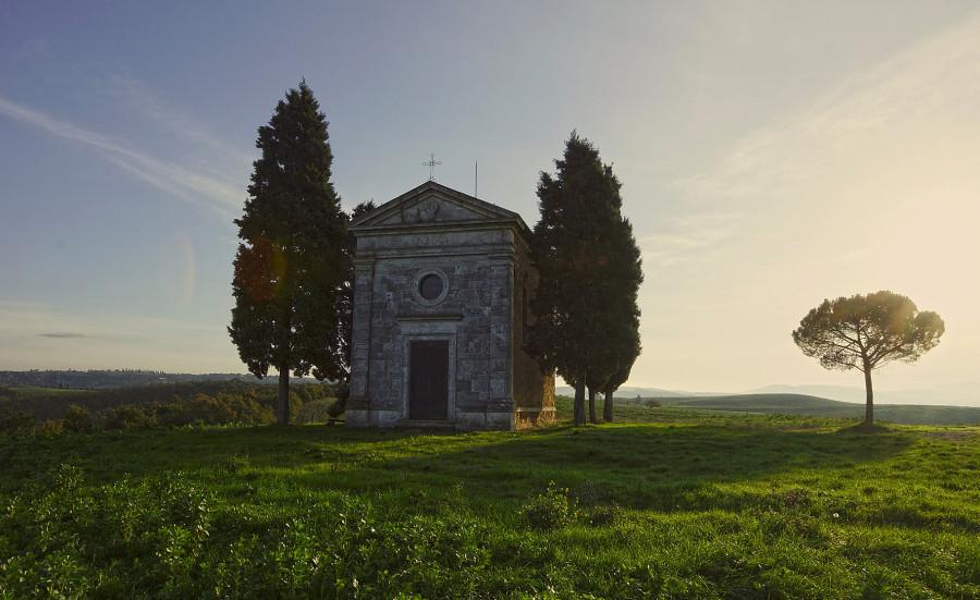 Тоскана, Tuscany , капелла ди Виталета, Cappella di Vitaleta (3)