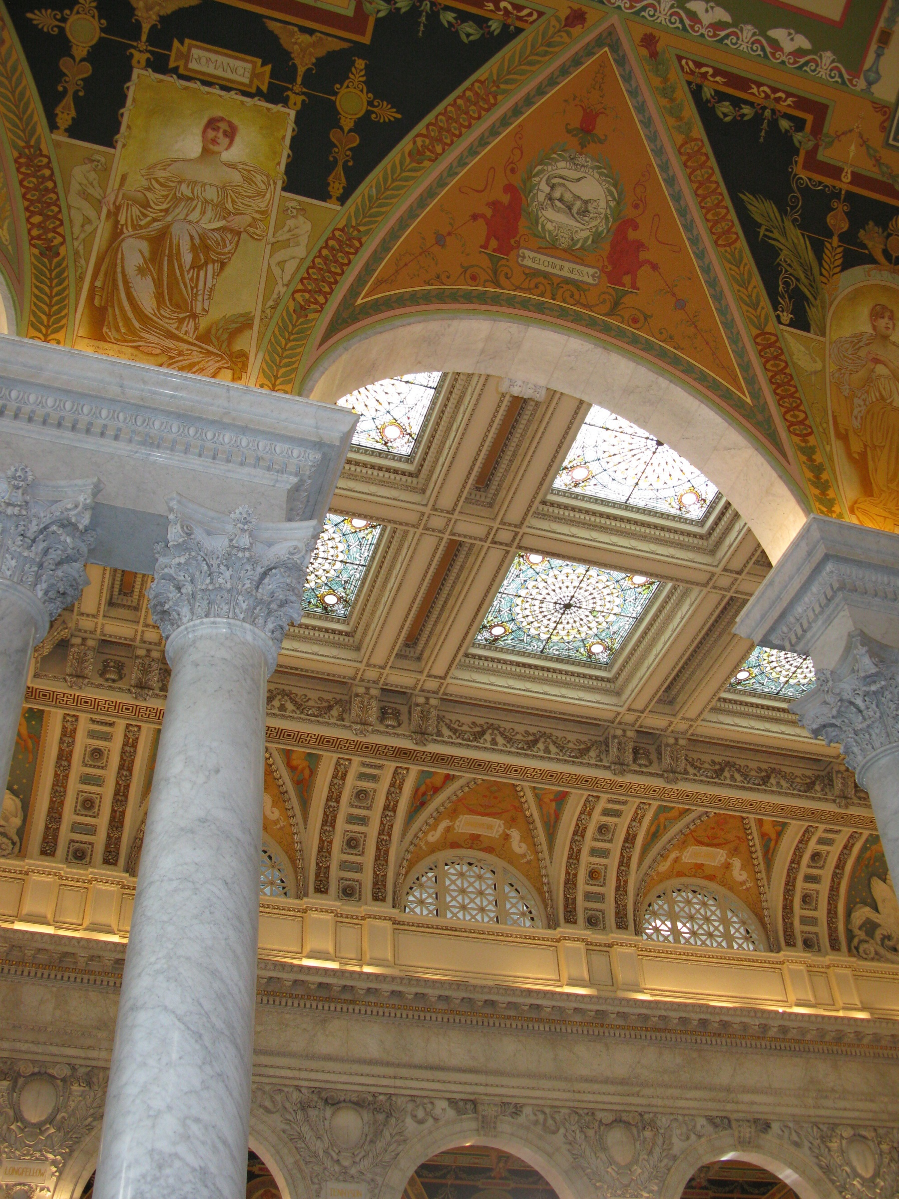 Library of Congress ceiling, web