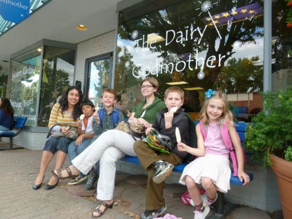 P1050603 - Ms Olvera, Ms Allen, and kids at DG