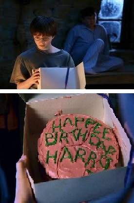 Harry, and cake