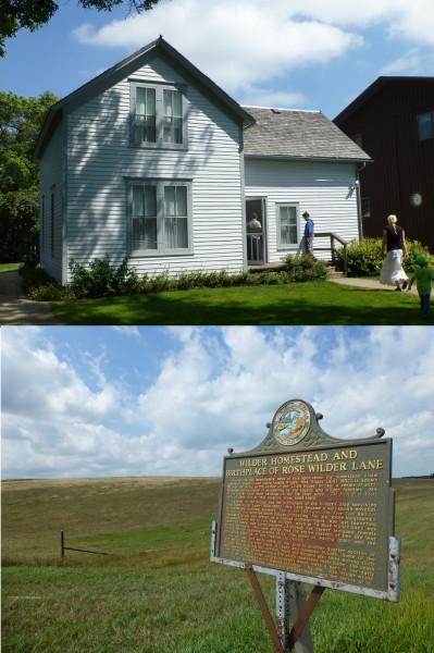 P1110651 & 682 Ma & Pa's house, Laura & Almanzo's marker