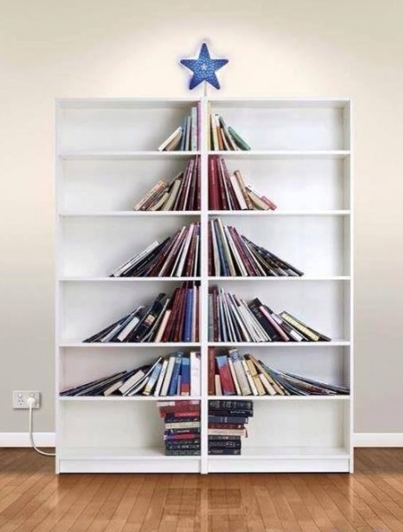 Book Tree on Two Bookcases