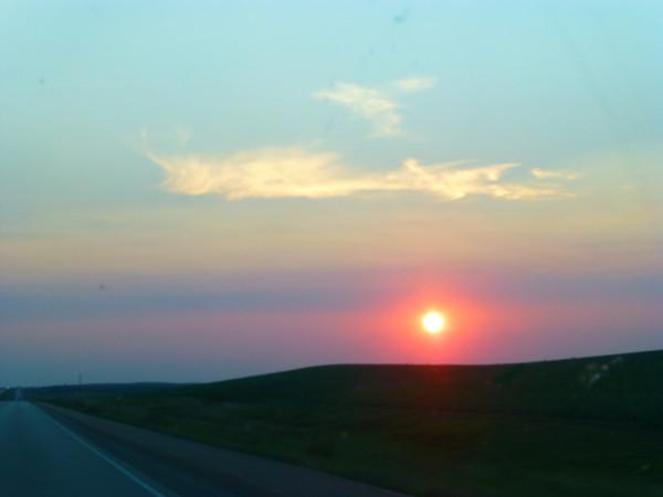 P1110901 South Dakota sunset, AQUA 50%