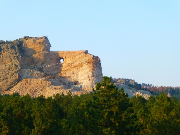 P1120331 Crazy Horse, sunset view,50%