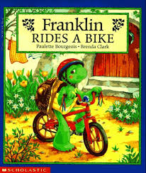 Bourgeois - Franklin rides a bike.