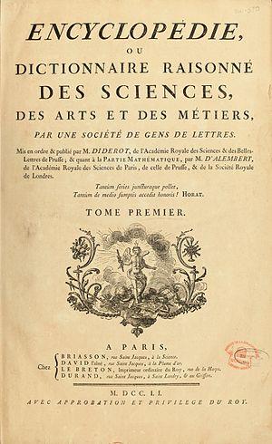 Diderot - Encyclopedie ou Dictionnaire Raisonne Des Sciences...