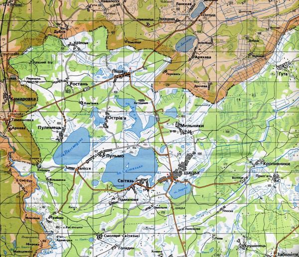 карта шацк