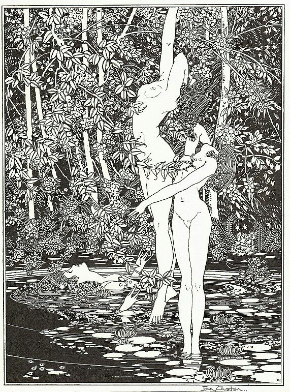 The Death of Ophelia, from Shakespeare's Hamlet by John Austen (1922)