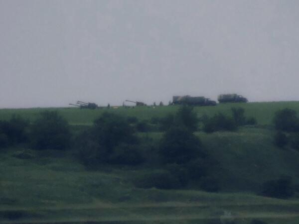 артиллерия на горе Карачун