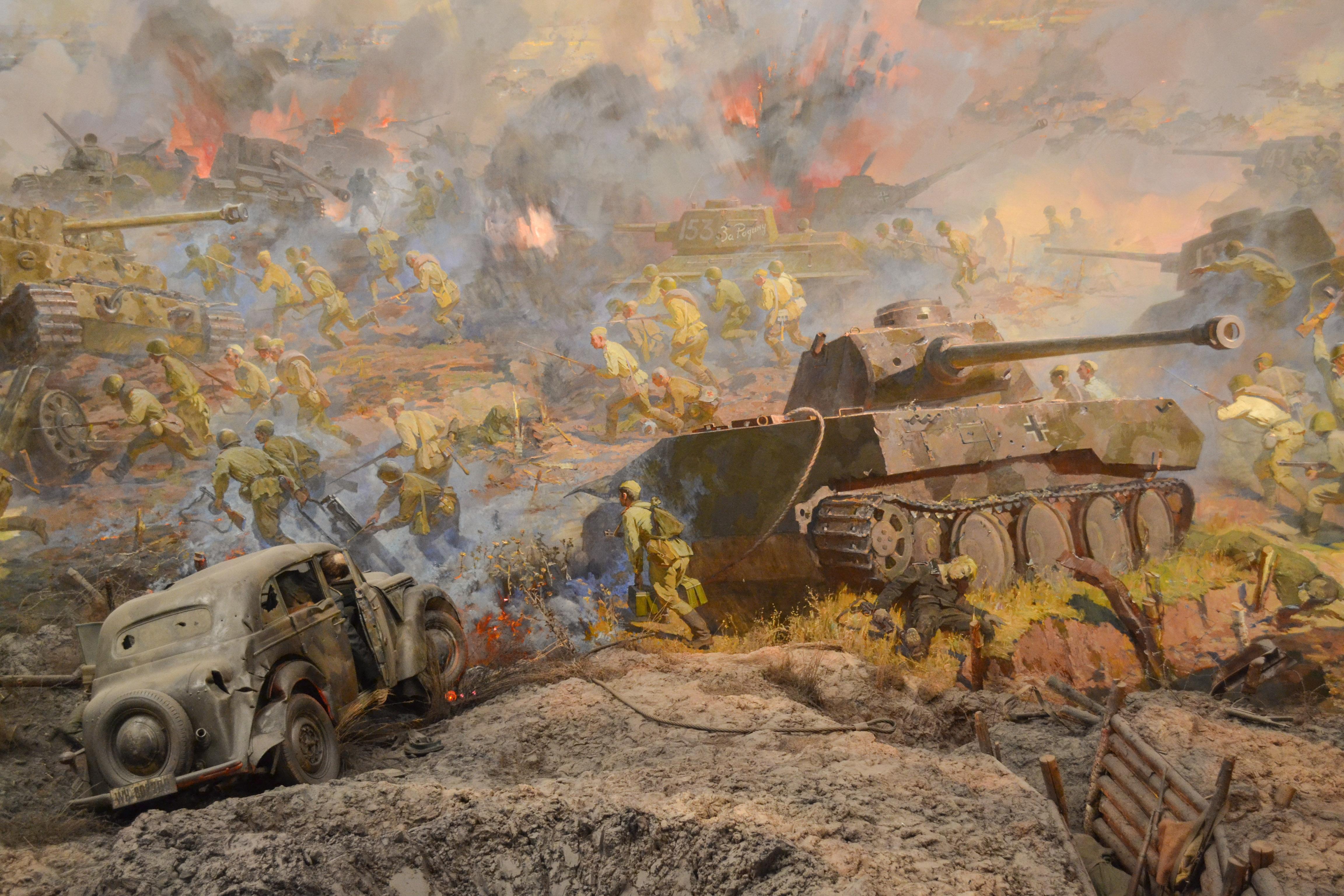 Фото танков белгородского музея диорамы поняли