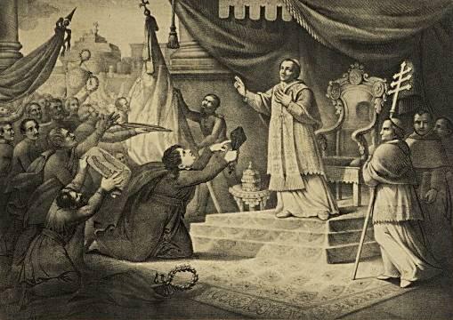 Пий IX даёт благословение на объединение Италии