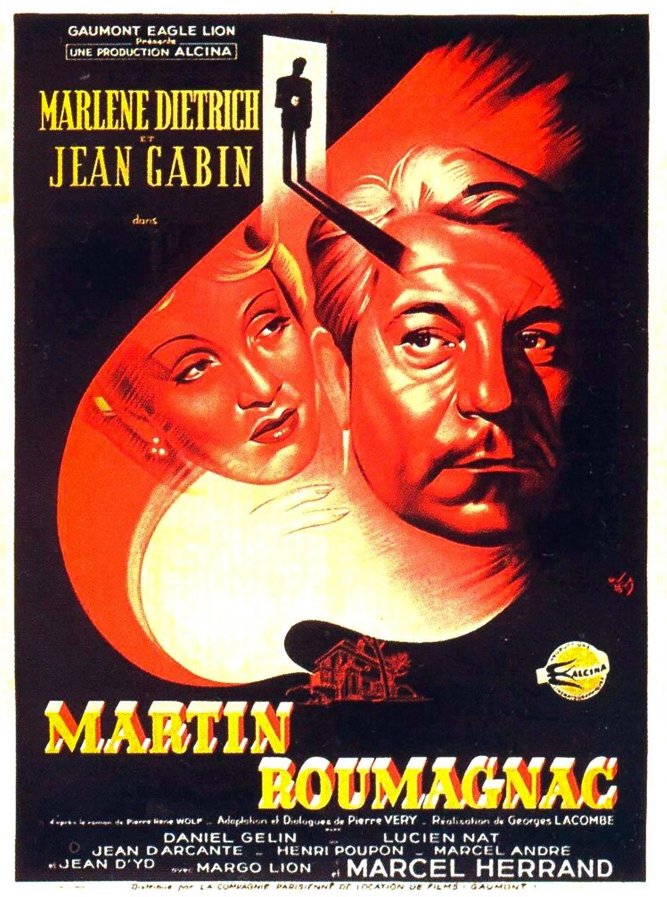 """Мартен Руманьяк"", Франция, 1946, Gaumont, Alcina, режиссёр Жорж Лакомб, автор сценария Пьер Вери, композитор Джованни Фуско"