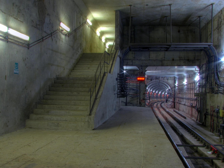 """Платформа и тоннель станции """"Троице-Лыково"""""""