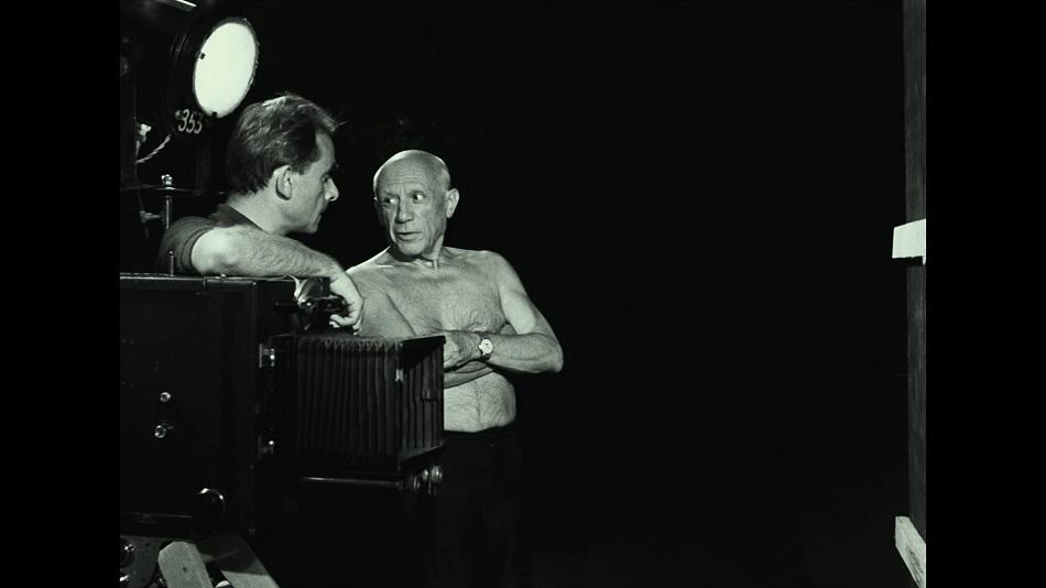 """Клузо и Пикассо на съёмках """"Тайны Пикассо"""""""