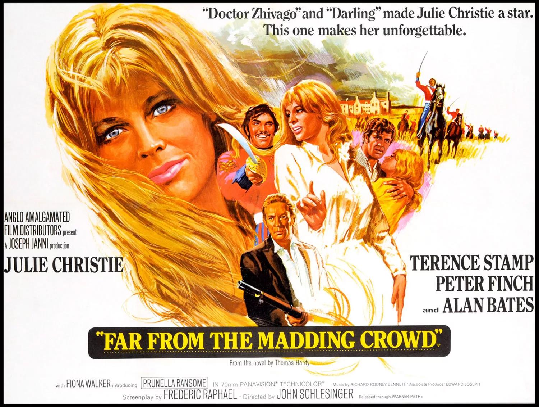 """""""Вдали от безумной толпы"""", Великобритания, 1967, Metro-Goldwyn-Mayer, режиссёр Джон Шлезингер, автор сценария Фредерик Рафаэль, композитор Ричард Родни Беннетт"""