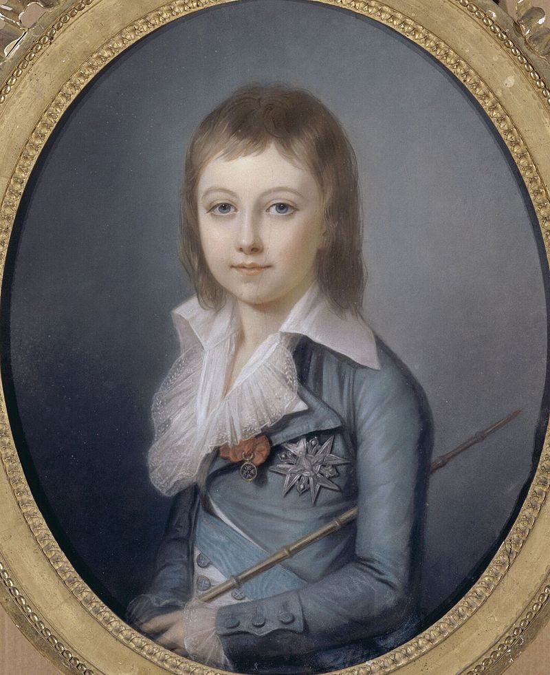 Людовик XVII - портрет кисти Александра Кушарского