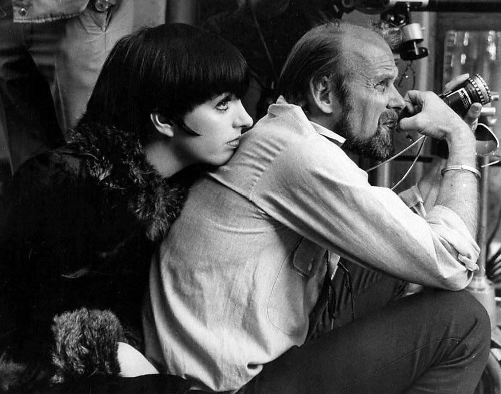 Лайза Миннелли и Боб Фосс на съёмочной площадке