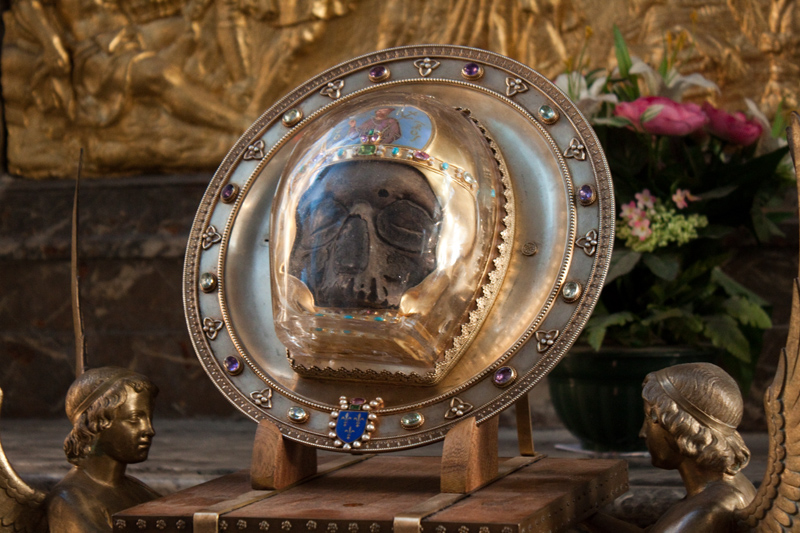 Лицевая часть черепа Иоанна Крестителя из Амьена