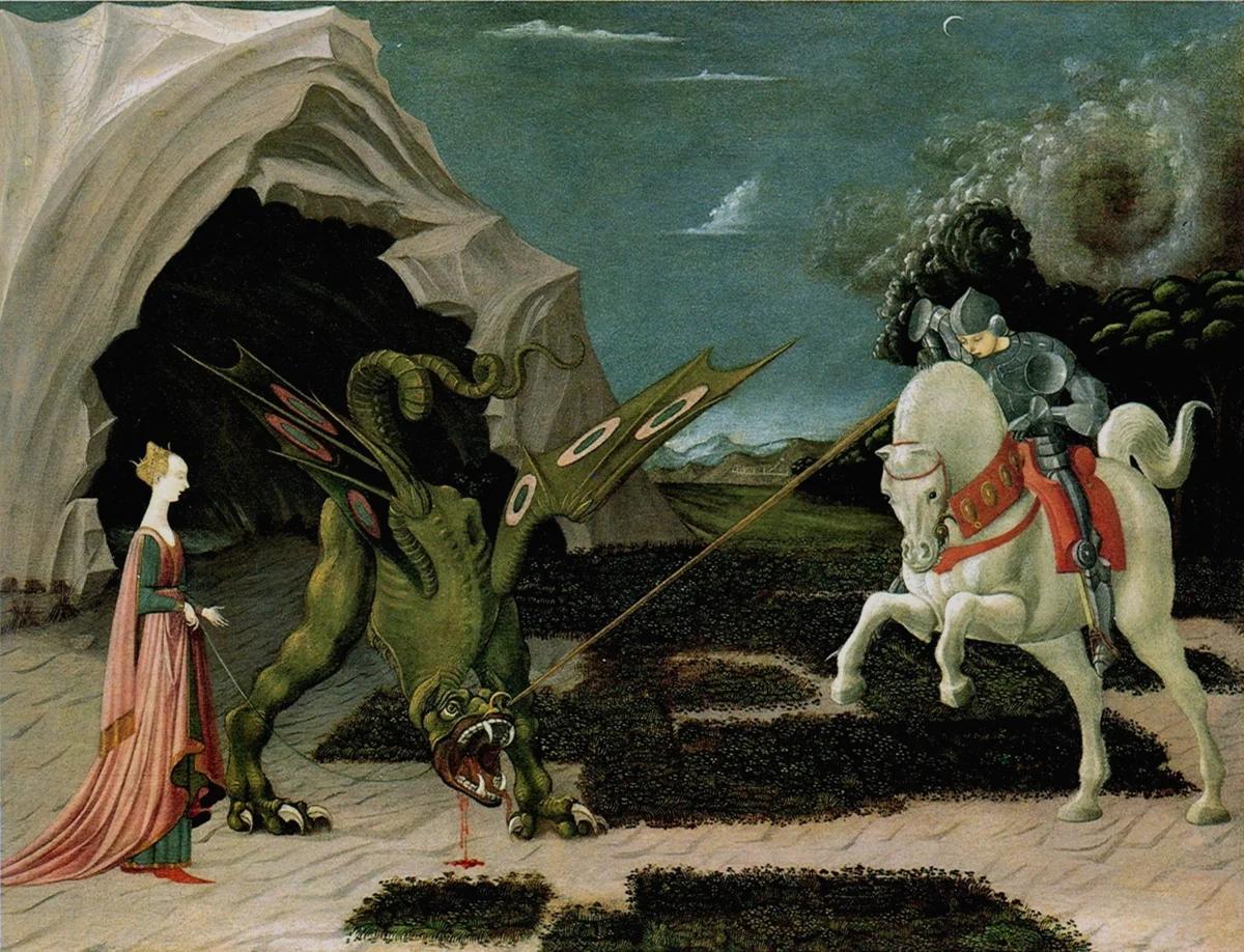 """""""Святой Георгий и Дракон"""" — Паоло Уччелло, 1456 год"""