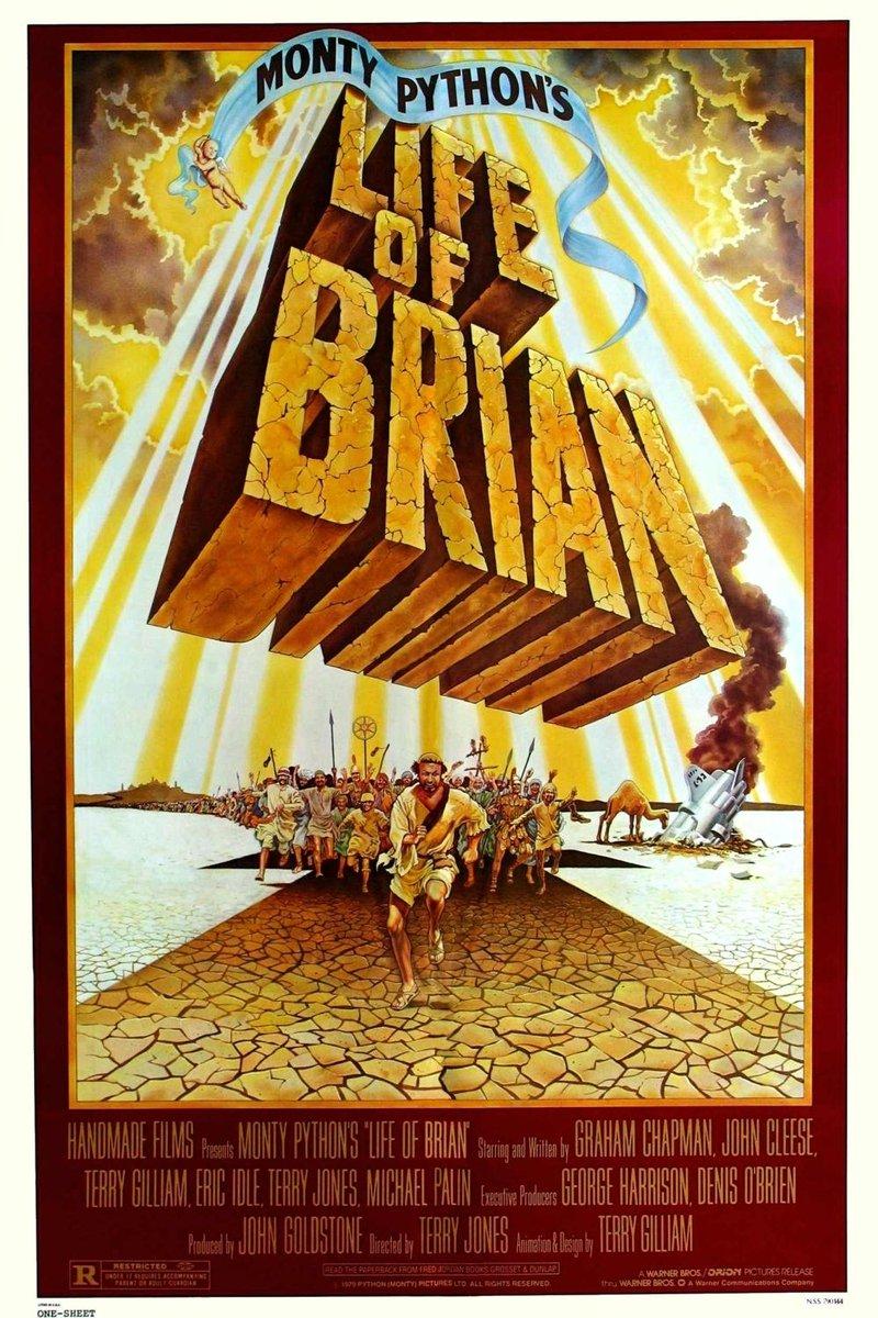 """""""Житие Брайана"""", Великобритания, 1979, Handmade Films, режиссёр Терри Джонс, авторы сценария """"Монти Пайтон"""", композитор Джеффри Бёрджен"""