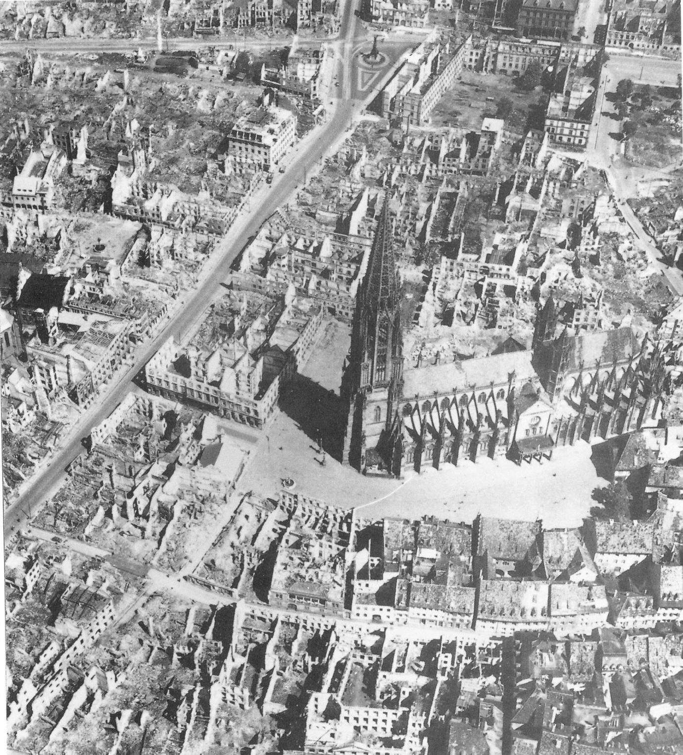 Так выглядел Фрайбург после бомбардировки