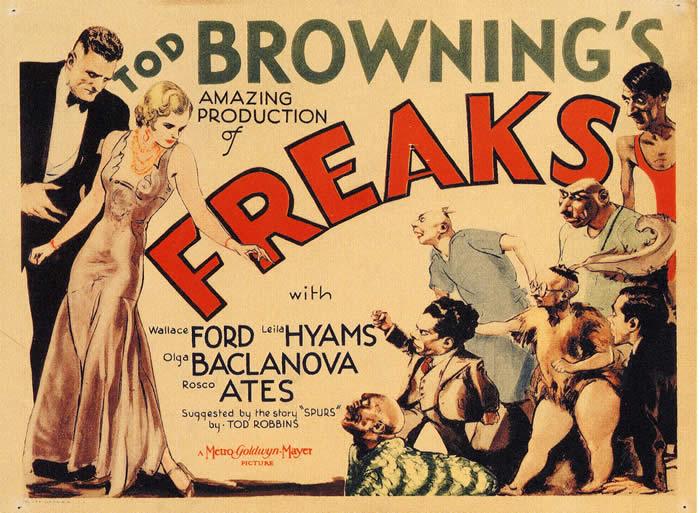"""""""Уроды"""", США, 1932, Metro-Goldwyn-Mayer, режиссёр Тод Браунинг, авторы сценария Тод Роббинс, Виллис Голдбек и Леон Гордон"""