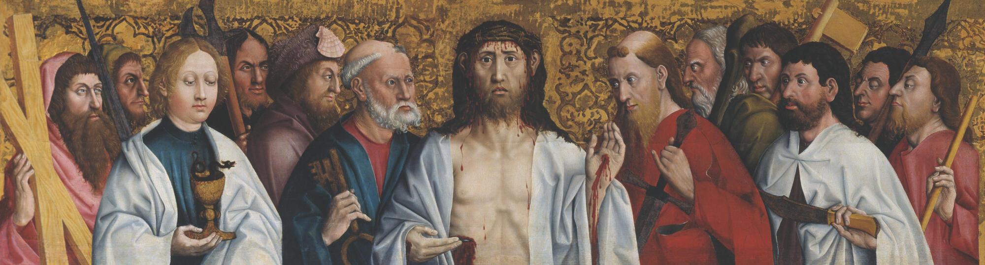 """""""Иисус и апостолы"""", работа неизвестного немецкого художника XV века"""