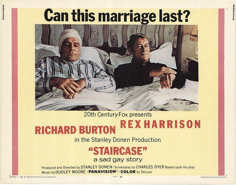 """""""Лестница"""", Великобритания-США, 1969, 20th Century Fox, режиссёр Стэнли Донен, автор сценария Чарльз Дайер, композитор Дадли Мур"""