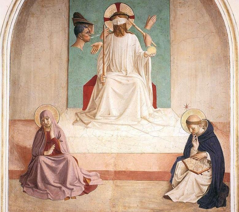 """""""Поругание Христа"""" — Фра Анджелико, XV век"""