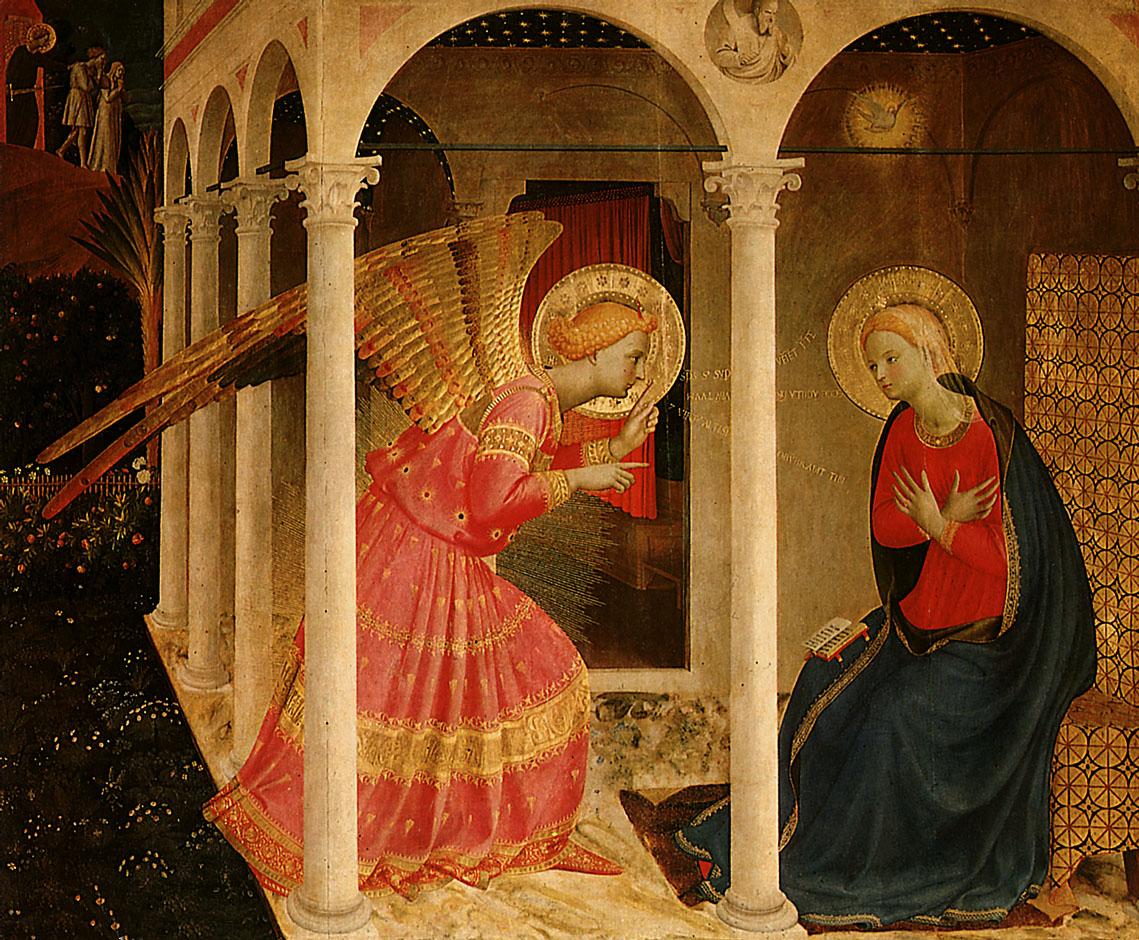 """""""Благовещение"""" — Фра Анджелико, XV век"""