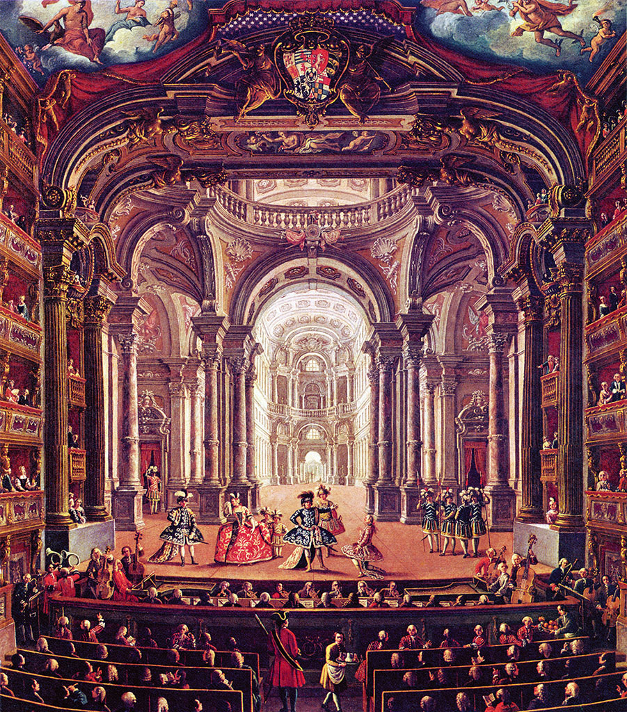 Оперный спектакль в барочном театре