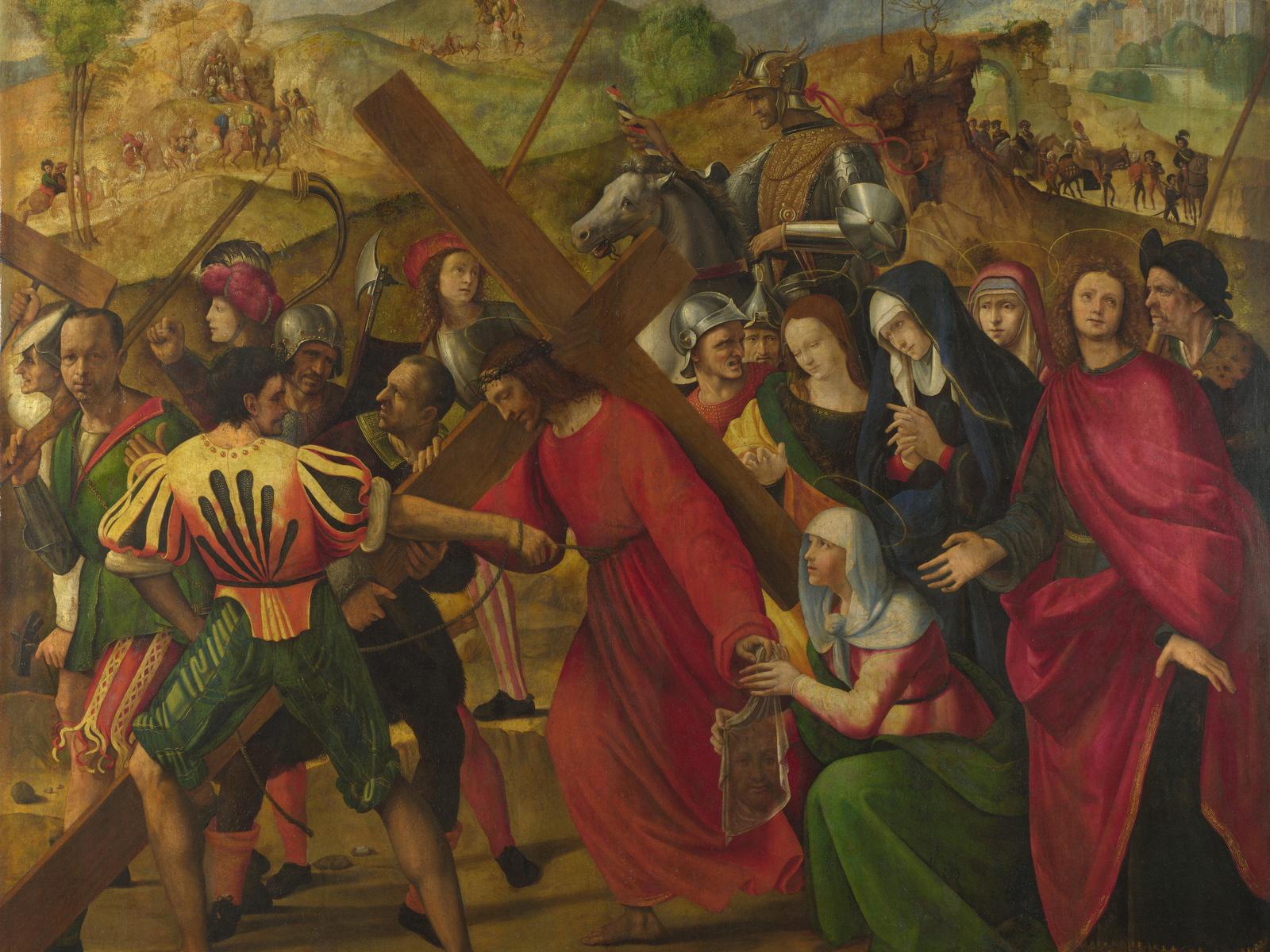 """Ридольфо Гирландайо — """"Несение креста"""" — XVI век"""
