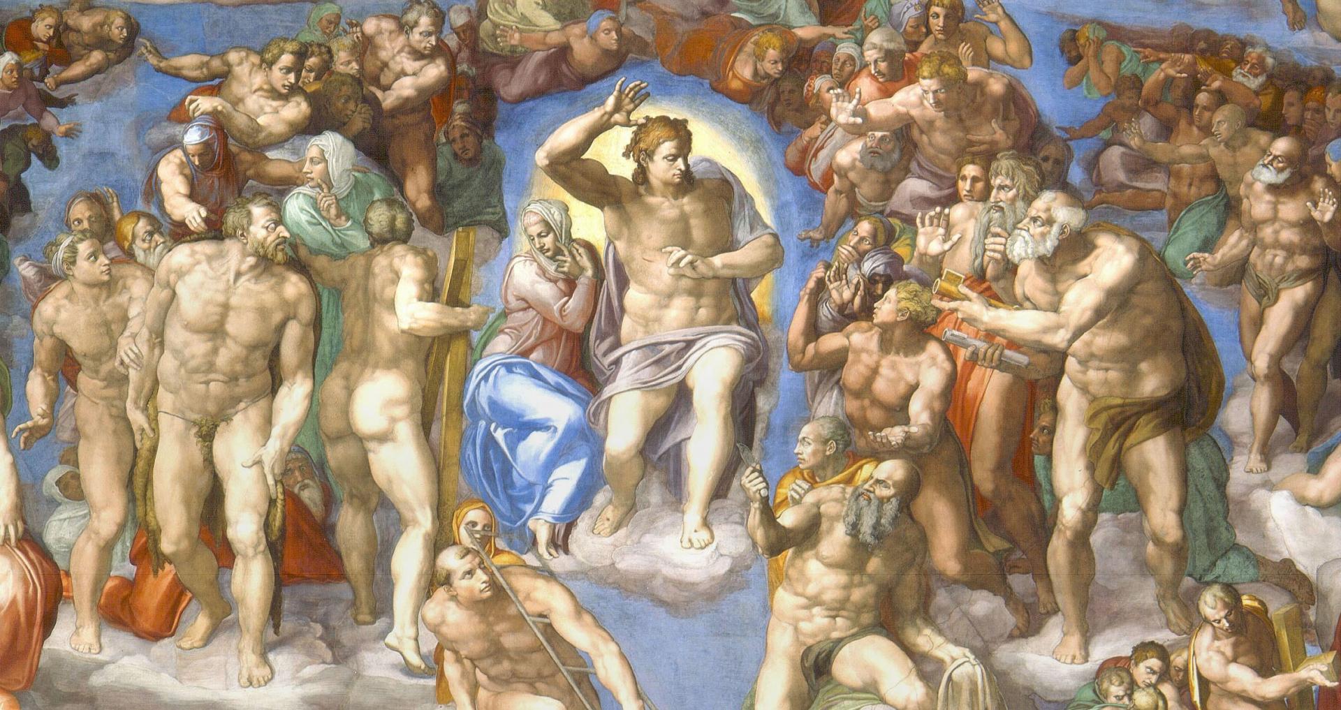 "Микеланджело — ""Страшный Суд"" — XVI век"