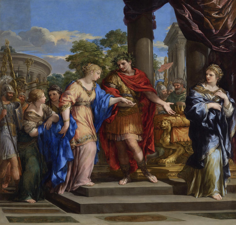 """Юлий Цезарь дарует Клеопатре трон Египта"" — Пьетро да Кортона, 1679"
