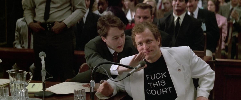 """Кадр из фильма """"Народ против Ларри Флинта"""" (США, 1996) — Золотой Медведь-1997"""