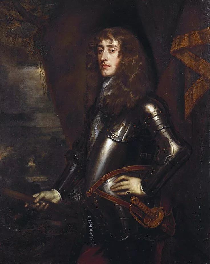 Яков II - портрет кисти П. Лели