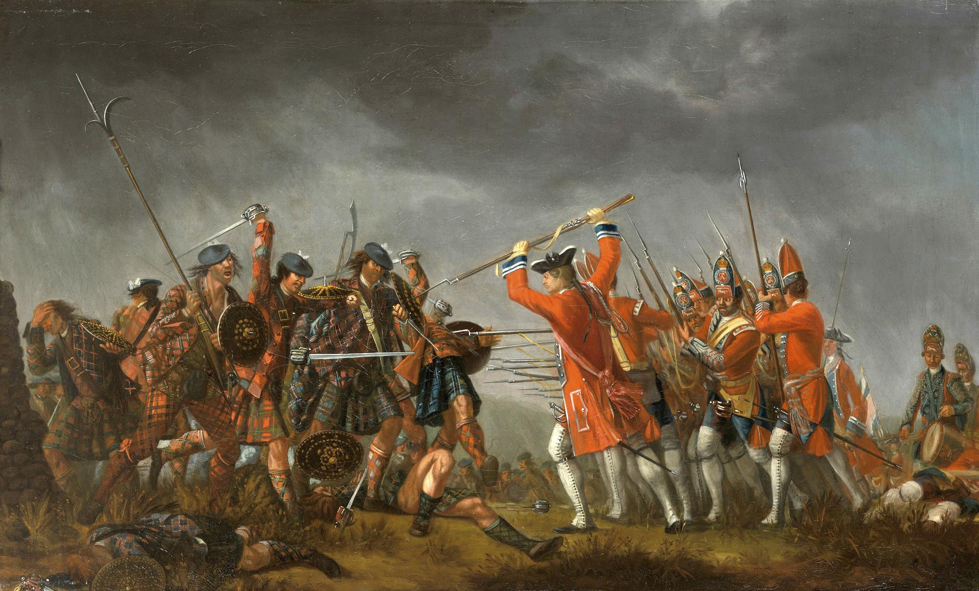 Каллоденская битва - картина кисти Д. Морье