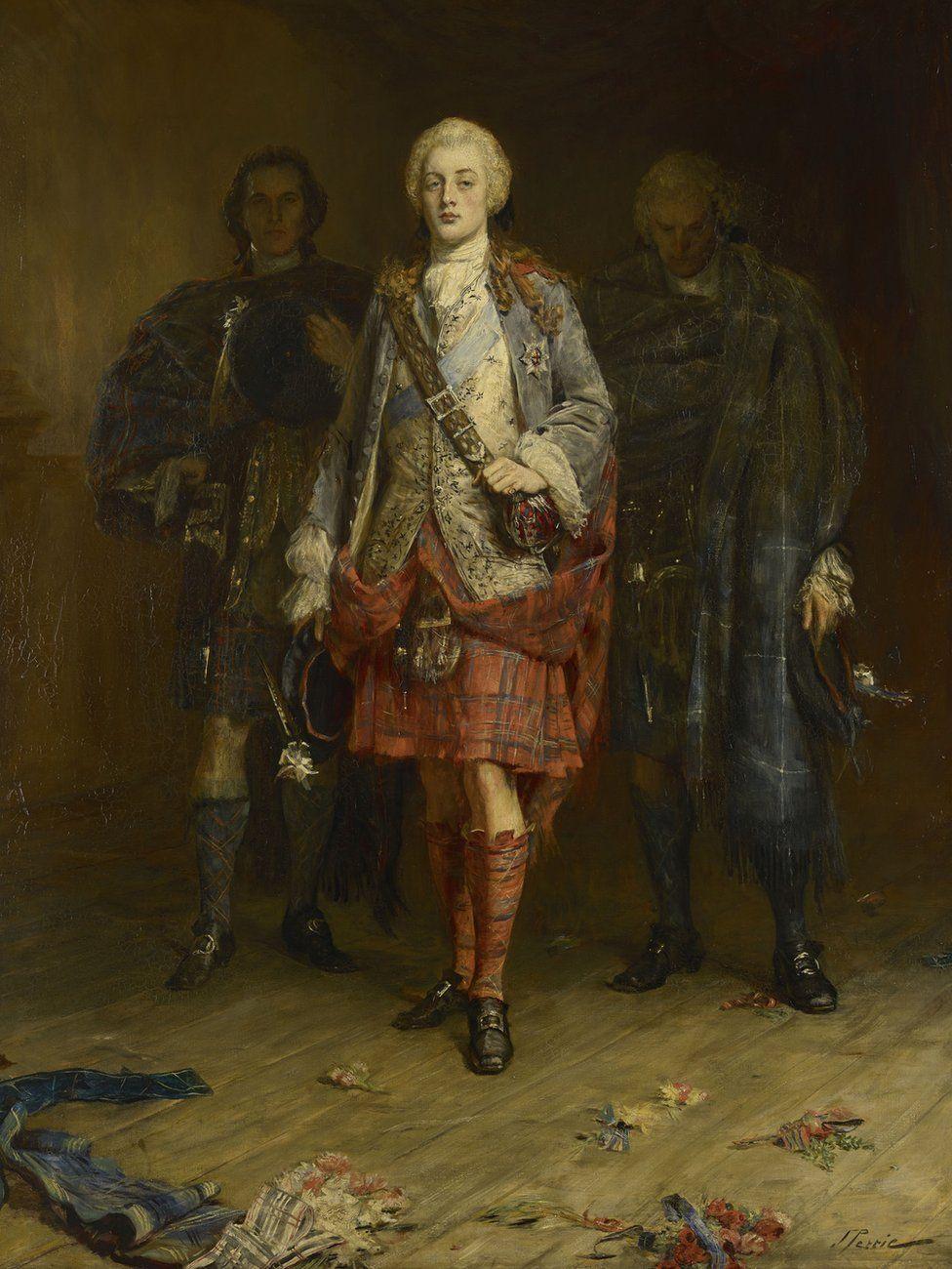"Красавчик принц Чарли, ""Младший претендент"" - портрет кисти Д. Петти"