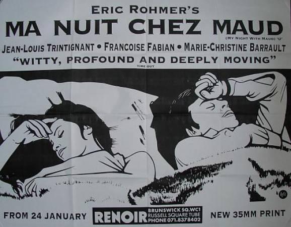 """""""Моя ночь у Мод"""", Франция, 1969, автор сценария и режиссёр Эрик Ромер, композитор Жак Момон"""
