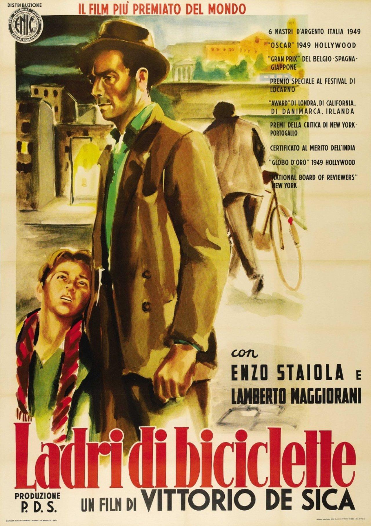 """""""Похитители велосипедов"""", Италия, 1948, режиссёр Витторио де Сика, авторы сценария Луиджи Бартолини и Чезаре Дзаваттини, композитор Алессандро Чиконьини"""