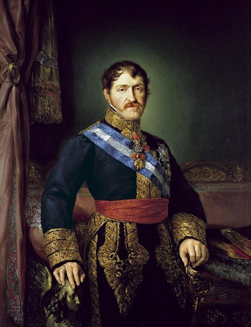 Дон Карлос Старший - Карл V по версии карлистов - портрет кисти Висенте Лопеса