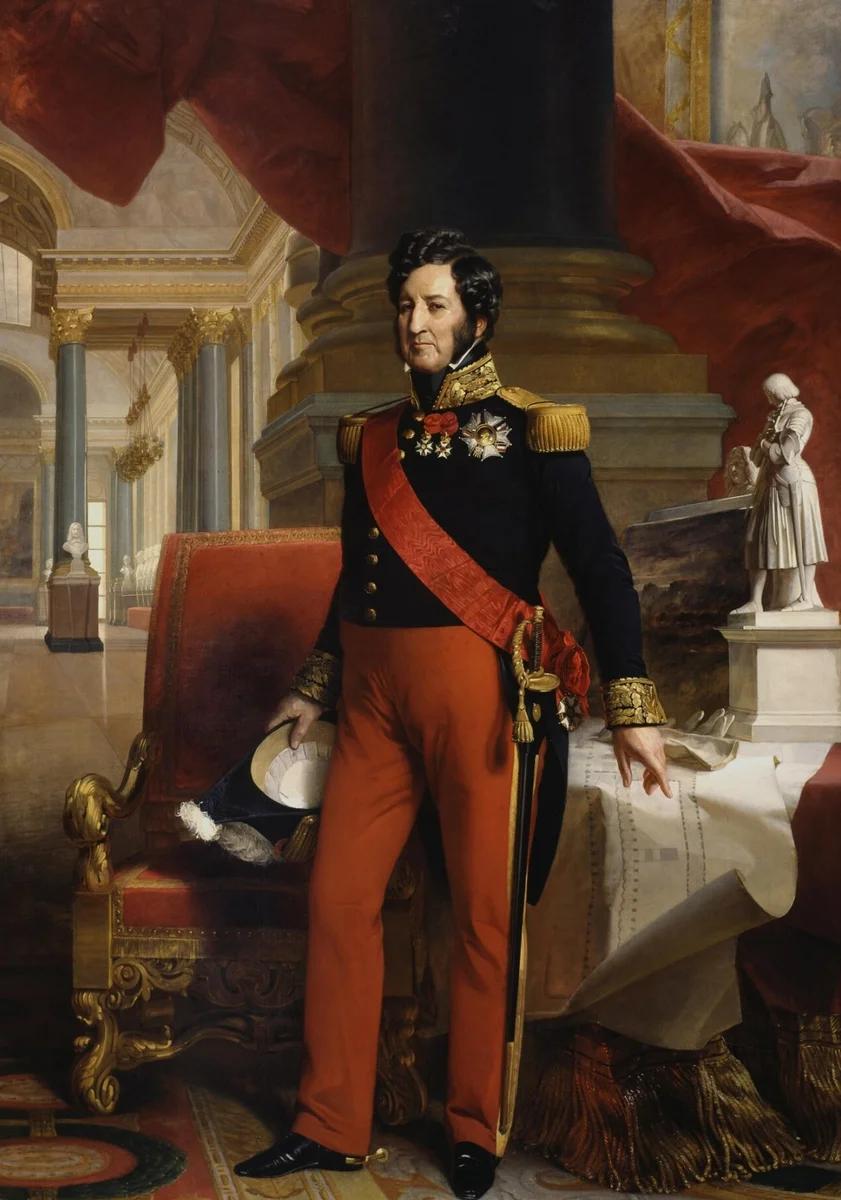 Луи Филипп, последний король Франции - портрет кисти Ф. К. Винтерхальтера
