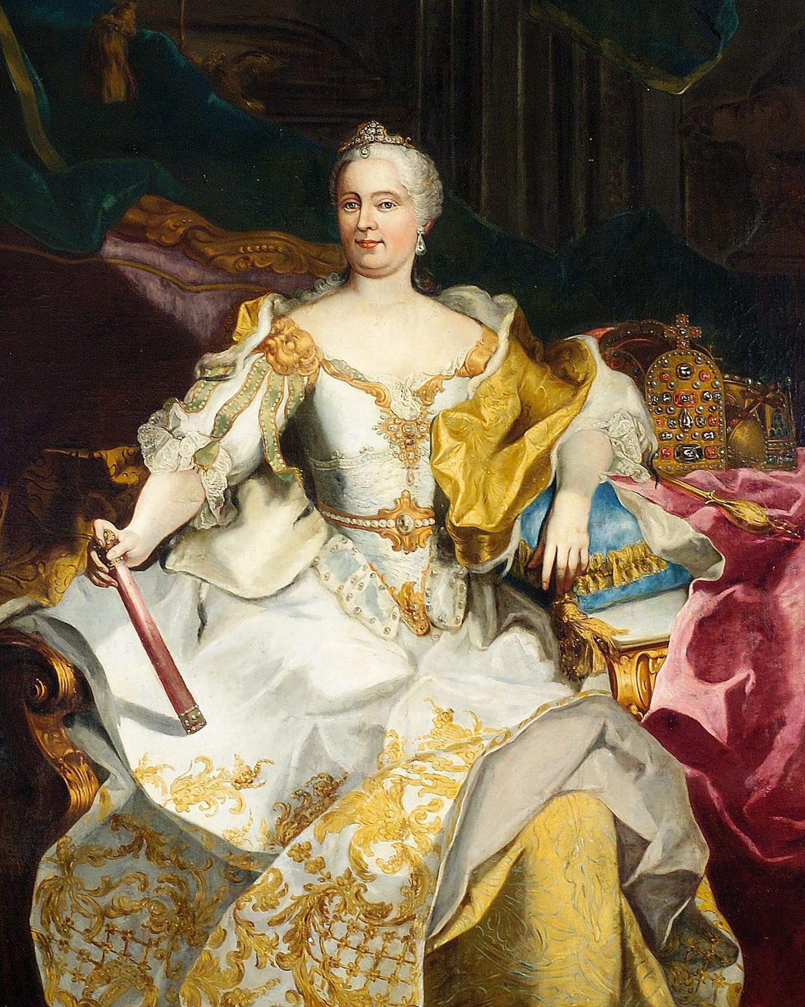 Мария Терезия Австрийская - портрет кисти И.Г. Ауэрбаха